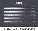 2020 moon phases calendar gray... | Shutterstock .eps vector #1570635814