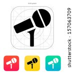 microphone on stand icon....