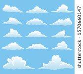set of clouds vector... | Shutterstock .eps vector #1570660147