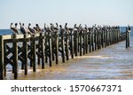 A Fishing Pier Damaged By A...