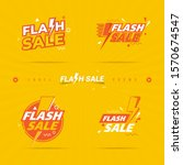 flash sale label on collection...   Shutterstock .eps vector #1570674547