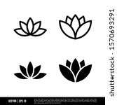 the best lotus icons vector... | Shutterstock .eps vector #1570693291