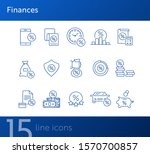 finances icon set. line icons... | Shutterstock .eps vector #1570700857