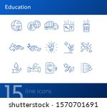 ecology line icons. set of line ... | Shutterstock .eps vector #1570701691