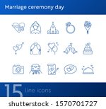 marriage ceremony day icons.... | Shutterstock .eps vector #1570701727