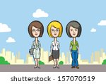 vector illustration of three... | Shutterstock .eps vector #157070519