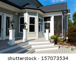 back deck and screen porch of... | Shutterstock . vector #157073534