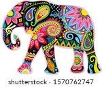 Vector Decorative Elephant...