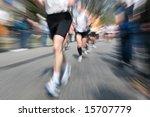 marathon racer. blur from the... | Shutterstock . vector #15707779