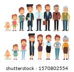 age from baby to adult. human... | Shutterstock .eps vector #1570802554