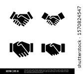 the best handshake icons vector ... | Shutterstock .eps vector #1570824547