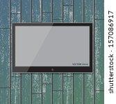 display on wood wall vector...   Shutterstock .eps vector #157086917