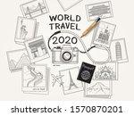 world travel 2020 concept.... | Shutterstock .eps vector #1570870201