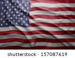 waving colorful united states... | Shutterstock . vector #157087619