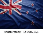 waving colorful new zealand flag | Shutterstock . vector #157087661