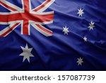 waving colorful australian flag | Shutterstock . vector #157087739