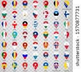 forty nine flags of european... | Shutterstock .eps vector #1570877731