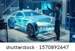 automotive engineer use virtual ...