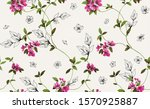 floral pattern design little... | Shutterstock . vector #1570925887