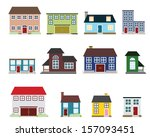 vector real estate icons | Shutterstock .eps vector #157093451