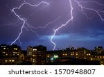 Thunder Storm In The City Of...
