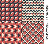 geometric seamless patterns set.... | Shutterstock .eps vector #157095851