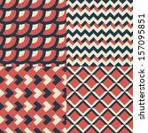 geometric seamless patterns set.... | Shutterstock .eps vector #157095851
