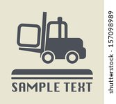 fork lift icon or sign  vector... | Shutterstock .eps vector #157098989
