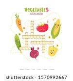 cartoon crossword in english... | Shutterstock .eps vector #1570992667