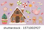 the collection of cute... | Shutterstock .eps vector #1571002927