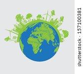 vector ecology concept   | Shutterstock .eps vector #157100381