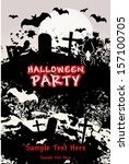 halloween party with bats... | Shutterstock .eps vector #157100705