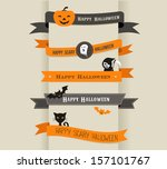happy halloween   set of... | Shutterstock .eps vector #157101767