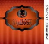 jack o' lantern label halloween ... | Shutterstock .eps vector #157104071