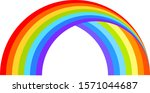 bright rainbow icon on clear...   Shutterstock .eps vector #1571044687