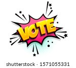 vote cartoon funny retro candy... | Shutterstock .eps vector #1571055331