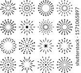 fireworks  starburst  sunburst  ... | Shutterstock .eps vector #1571065897