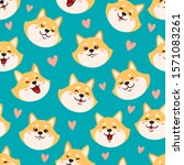 vector seamless pattern with... | Shutterstock .eps vector #1571083261