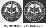 vintage monochrome marine logo... | Shutterstock . vector #1571087824
