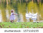 Cute Baby Girl Chasing Wild...