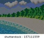beach | Shutterstock .eps vector #157111559