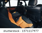 Sports Car Interior With Black...