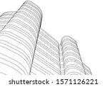 concept 3d architecture... | Shutterstock .eps vector #1571126221