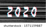 happy new year 2020 text glitch ... | Shutterstock . vector #1571159887