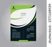 flyer brochure poster go green... | Shutterstock .eps vector #1571168434