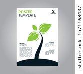 flyer brochure poster go green... | Shutterstock .eps vector #1571168437