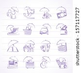 business icons   vector icon set | Shutterstock .eps vector #157117727