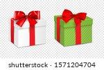 gift white box and green gift... | Shutterstock .eps vector #1571204704