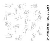 arm and finger | Shutterstock .eps vector #157121255
