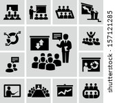 conference icons | Shutterstock .eps vector #157121285